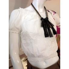 Maglia Cropped Panna Cotton Elastico Alisya