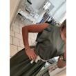 Cropped Dress Temy Denim Glam Verde Militare