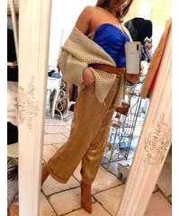 Pantaloni Myè Fashion Glam English Gold Pinces
