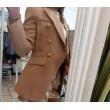 Blazer Navyal Fashion Glam Hazelnut Gold