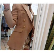 Blazer Navyal Fashion Glam Hazelnut Gold