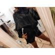 Space Jacket Fashion Glam Nero Vinile Coulisse Sul Collo