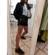 Space Shorts Fashion Glam Nero Vinile Coulisse In Vita