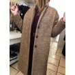 Cappotto Claire in lana cammello Background
