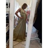 Abito Jenny Luxury Edition Lungo Glitter Oro
