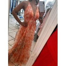 Abito Orange Mood Luxury Edition Plissé