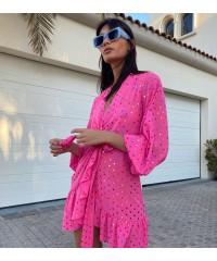 Rainbow Bubble Warm Heart Short Dress