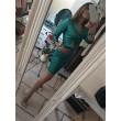 Top Blazer Dalila Screwed Up Total Paillettes Verde Glam