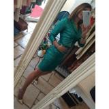 Gonna Dalila High Waist Total Paillettes Verde Glam