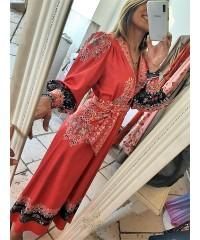 Long Dress Japa Rosso Satin Original Style