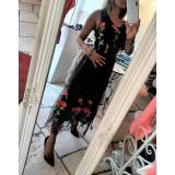 Midi Dress Loretta Total Tulle Romantic Rose