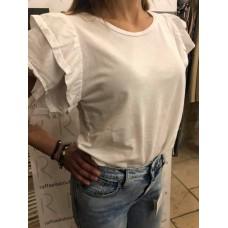 Maglia In Cotone Markup Woman Tinto A Freddo Bianco