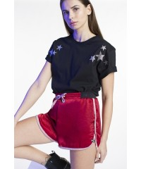 Short In Raso Rosso My T-Shirt Con Coulisse Rosa