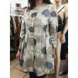 GIACCA CAPPOTTO LADY'S 50 NUALY JACQUARD COTTON ORIENTAL SILVER