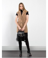 GILET CAPPOTTO VELOUR NUALY IN LANA