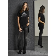 T-shirt On Black Street Standard Nero Girocollo Stretch Queguapa