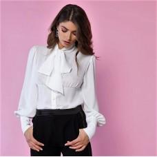 Camicia Elata Queguapa Milano Bianco Stile Gotico