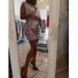Mini Abito Fergy Queguapa Milano Pink Glam Draped Skirt