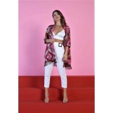 Pantaloni Violet Queguapa Milano Cropped Con Cintura
