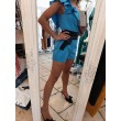 Tuta Corsay Rinascimento Shorts Jumpsuit Turchese