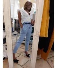 Pantalone Exery Rinascimento Eighties Vita Alta Con Pince