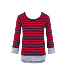 MAGLIA PULLOVER RINASCIMENTO IMPRESSION SHIRT COTTON RED BLUE