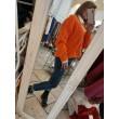 Maglioncino Gionata Denim Glam Arancione Con Intrecci