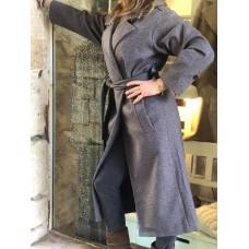 Cappotto Zaraon Fashion Glam Colletto A Revers Con Mostrine e Cintura