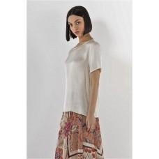 T-shirt Nina Markup Woman Raso Vaniglia Collo Rotondo