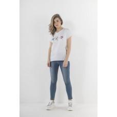 T-shirt Markup Woman Logo Stampa Gemme Cotone