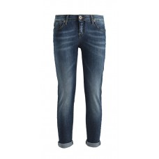 Pantalone Jeans Tela Cotone Impuntura Gialla Stretch Miss Miss by Valentina